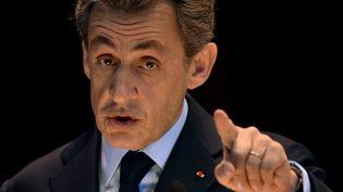 L'ex-président de la République Nicolas Sarkozy, actuel président des Républicains, le 29 octobre 2015 à Moscou (Russie). (KIRILL KUDRYAVTSEV / AFP)