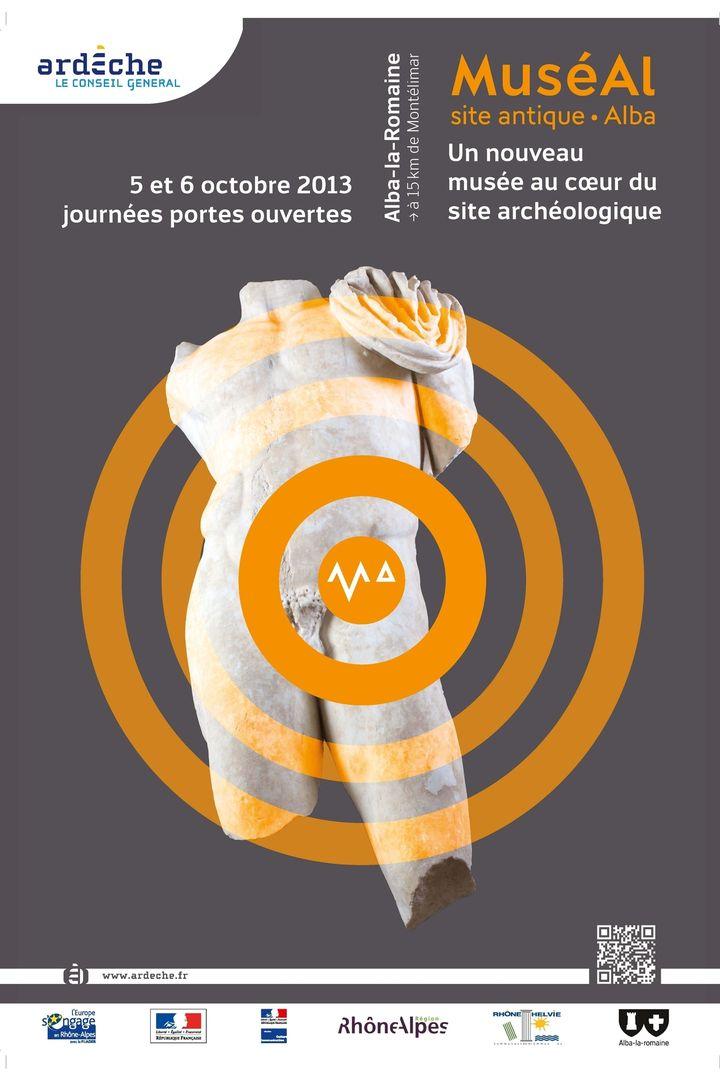 Affiche des journées portes ouvertes organisées sur le site antique d'Alba les 5 et 6 octobre 2013  (CG07)