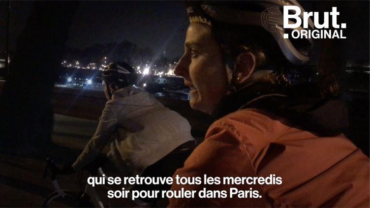 """Les """"GoWs"""" se réunissent chaque semaine en région parisienne pour faire du vélo entre elles. L'organisation a trouvé ses adeptes. (BRUT)"""