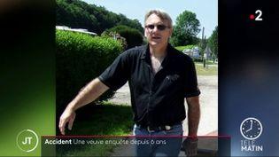 Le mari deSophie Rollet, décédé dans un accident de la route. (France 2)
