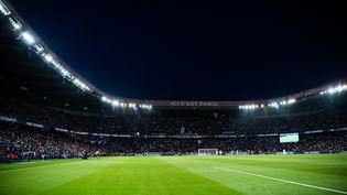 Le Parc des Princes, lors du match entre le PSG et Strasbourg, le 14 août 2021. (XOSE BOUZAS / HANS LUCAS)