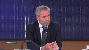 Xavier Bertrand, invité des matins présidentiels, le 4 octobre 2021.  (FRANCEINFO / RADIO FRANCE)