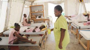 Un centre de soins de Médecins du Monde, dans un faubourg de Port-au-Prince, le 1er juin 2011 (AFP/Thony BELIZAIRE)