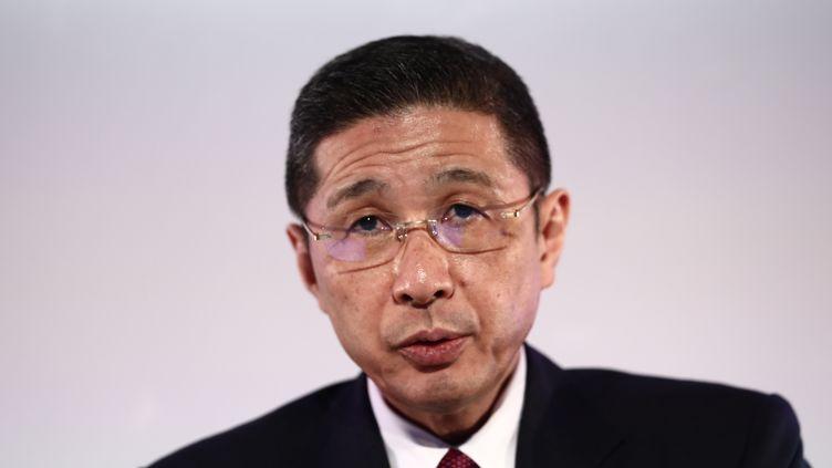 Hiroto Saikawa, ancien présidentdirecteur général de Nissan, lors d'une conférence de presse, le 14 mai 2019 à Yokohama. (BEHROUZ MEHRI / AFP)