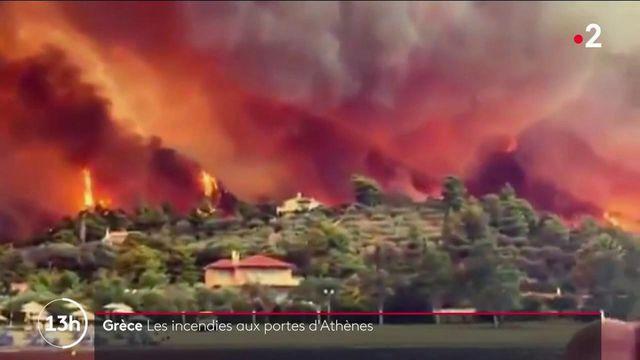 Grèce : plus de 100 incendies frappent simultanément le pays