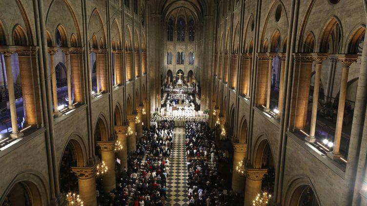 L'allée de la cathédrale Notre-Dame à Paris, le 11 octobre 2016. (P DELISS / GODONG / AFP)