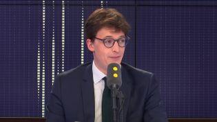 Sacha Houlié, le député LREM de la Vienne, invité du 19h20 Politique de franceinfo, le 14 janvier 2019. (FRANCEINFO / RADIOFRANCE)