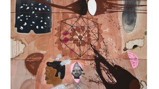 To Fela, 2011 (OUATTARA WATTS / COURTESY GALERIE CECILE FAKHOURY)