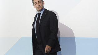 L'ancien président de la République Nicolas Sarkozy lors d'un sommet à Moscou (Russie), le 16 janvier 2020. (KIRILL KALLINIKOV / SPUTNIK / AFP)
