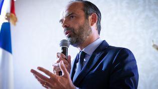 Le Premier ministre, Edouard Philippe, le 2 mai 2018 à Bourges (Cher). (VINCENT LOISON / AFP)