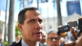 Le président de l'Assemblée nationale du Venezuela, Juan Guaido, à Caracas, le 29 janvier 2019. (YURI CORTEZ / AFP)