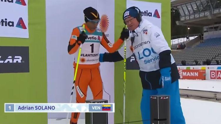 Le skieur vénézuélien Adrian Solano
