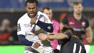 Le Fidjien de Clermont, Alvereti Raka, a encore brillé lundi 11 décembre 2017, contre les Saracens, en marquant trois essais. (OLLY GREENWOOD / AFP)