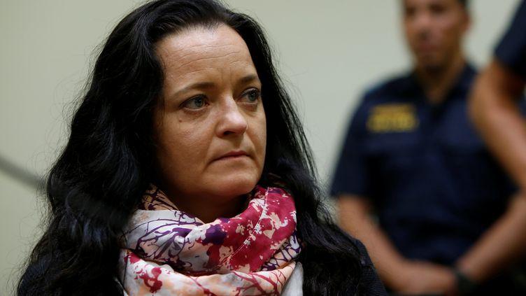 Beate Zschäpe au tribunal de Munich en Allemagne, le 11 juillet 2018. (MICHAELA REHLE / AFP)