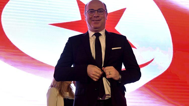Le Premier ministre tunisien Elyes Fakhfakhà Tunis, le 15 juillet 2020. (FETHI BELAID / AFP)