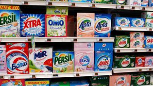 Un rayon de lessive dans un supermarché de Morlaix (Finistère), en février 2009. (CLAUDE PRIGENT / PHOTOPQR / LE TELEGRAMME /MAXPPP)