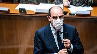 Le Premier ministre Jean Castex, le 19 octobre 2021, à l'Assemblée nationale. (XOSE BOUZAS / HANS LUCAS / AFP)