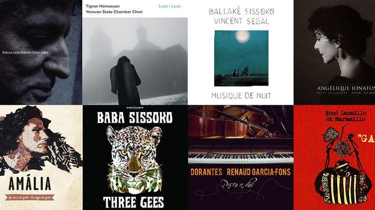 """Quelques albums de la rentrée """"world music"""" 2015...  (DR)"""