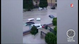 Levillage de Lentigione, dans le nord-est de l'Italie, sous les eaux (France 2)