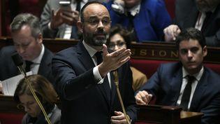 Le Premier ministre Edouard Philippe le 7 janvier 2020 à l'Assemblée nationale à Paris. (STEPHANE DE SAKUTIN / AFP)