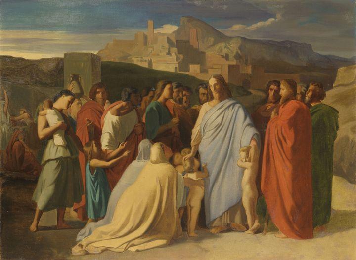 Etude pour Jésus Christ et les petits enfants,Hippolyte Flandrin, 1837Hippolyte Flandrin, (ALAIN BASSET / MBA)