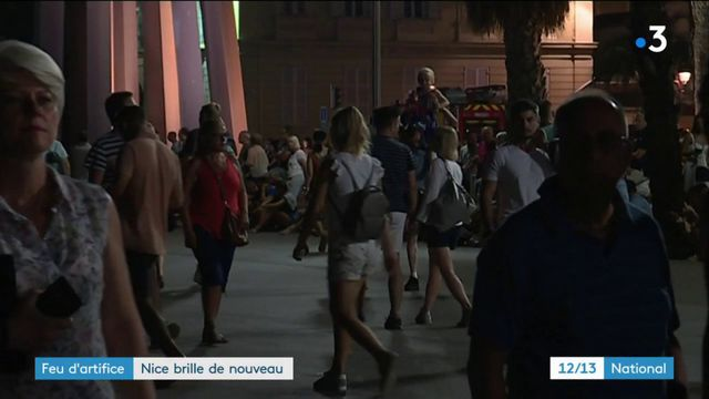Nice : premier feu d'artifice depuis l'attentat du 14 juillet 2016
