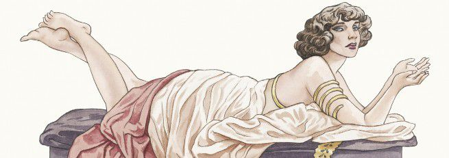 """""""Les vies de Colette"""" : 1re de couverture (détail) par Annie Goetzinger  (Dargaud)"""