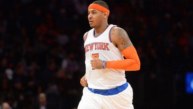 Le joueur des New York Knicks Carmelo Anthony