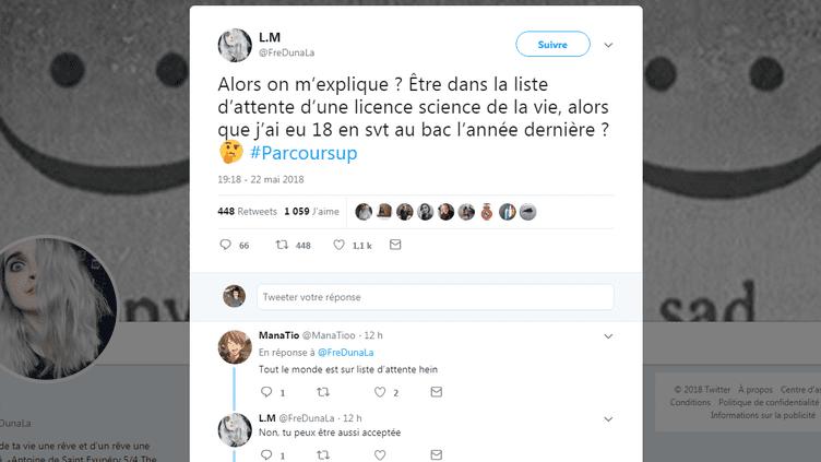Capture d'écran d'un tweet posté le 22 mai 2018 (@FREDUNALA / TWITTER)