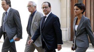 François Hollande arrive aux assises de l'apprentissage, vendredi 19 septembre, à Paris. (FRANCOIS GUILLOT / AFP)
