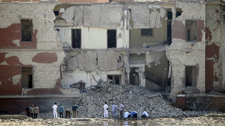 Le consulat italien du Caire (Egypte), visé par un attentat le 11 juillet 2015. ( MOHAMED ABD EL GHANY / REUTERS)