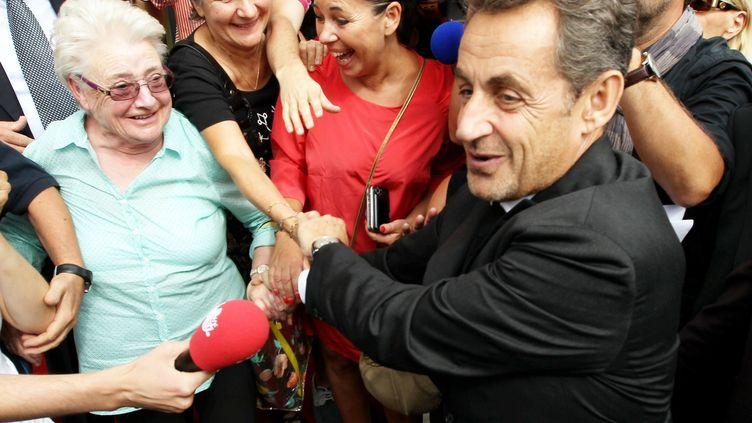 L'ancien président de la République Nicolas Sarkozy, le 27 septembre 2013 à Cannes (Alpes-Maritimes). (MAXPPP)