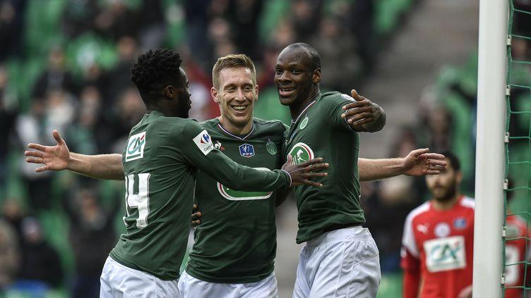 Robert Béric a marqué son retour sous le maillot vert en inscrivant le 1er but de St-Etienne face à Nîmes (JEFF PACHOUD / AFP)