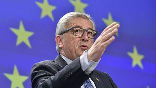 Le président de la Commission européenne Jean-Claude Juncker lors d'une conférence de presse sur la crise de la dette grecque à Bruxelles (Belgique), le 29 juin 2015. (JOHN THYS / AFP)