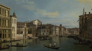 """""""Le grand canal de Venise du Palazzo Flangini au Campo San Marcuola"""" de Canaletto. Toile acquise part le Getty Museum le 9 mai 2013  (J. PAUL GETTY MUSEUM / AFP)"""