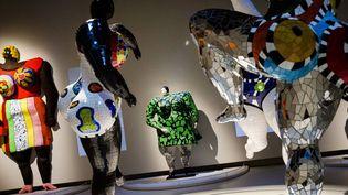"Les ""Nanas"" de Niki de Saint Phalle exposées au Grand Palais (septembre 2014)  (Marlène Awad / IP3 PRESS / MAXPPP)"