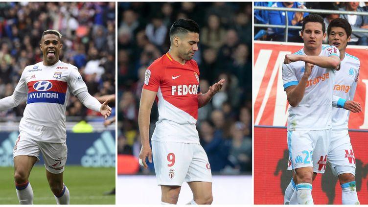 Mariano (Lyon), Falcao (Monaco) et Thauvin (Marseille), trois hommes pour un coup fin