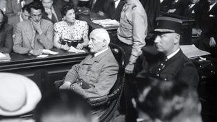 Le maréchal Pétain, en juillet 1945 lors de son procès à Paris. (AFP)