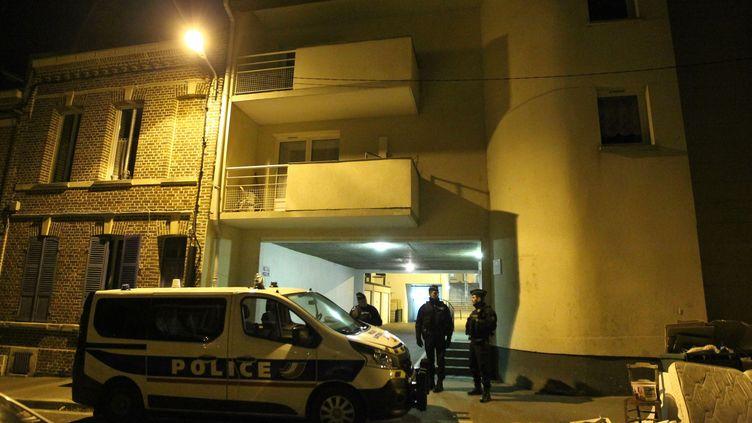 Quartier Saint Acheul d'Amiens, où a été interpellé le convoyeur de fonds soupçonné d'avoir volé le fourgon blindé de transports de fonds, le 12 février 2019. (FRED HASLIN / MAXPPP)
