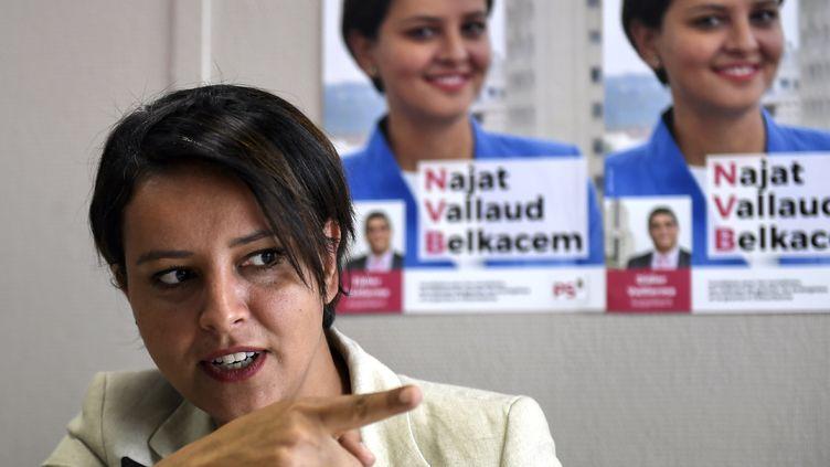 Najat Vallaud-Belkacem vise la 6e circonscription du Rhône aux élections législatives (PHILIPPE DESMAZES / AFP)