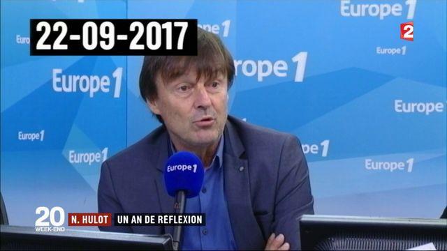 Nicolas Hulot : un an de réflexion