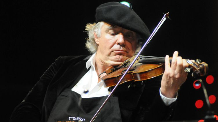Didier Lockwood au festival Jazz in Marciac le 2 oût 2014. (MAXPPP)