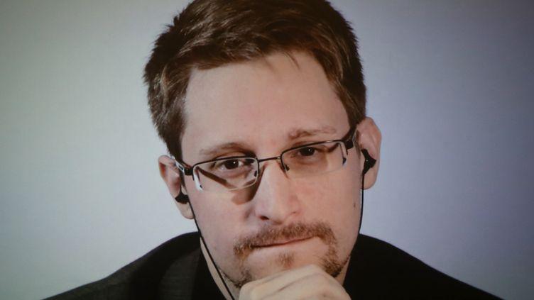 Edward Snowden lors d'une visioconférence au festival Wired25, dédié aux nouvelles technologies, à San Fransisco, le 14 octobre 2018. (PHILLIP FARAONE / GETTY IMAGES NORTH AMERICA / AFP)
