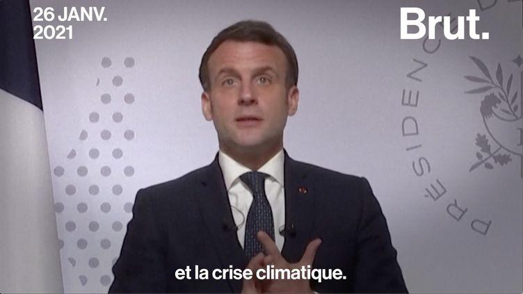 """VIDEO. Davos : Quand Emmanuel Macron parle de la """"face sombre"""" du capitalisme (BRUT)"""