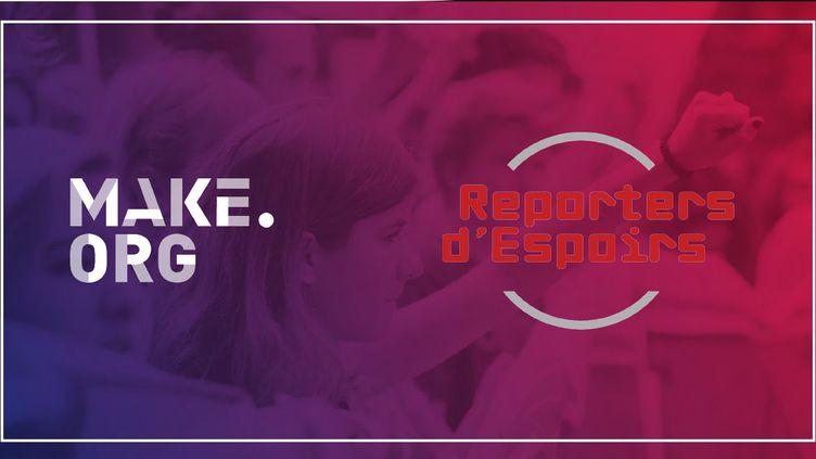 Franceinfo, Make.org et Reporters d'Espoirs sont partenaires (DR)