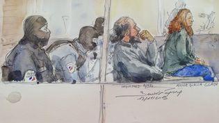 Anne Diana, la soeur ainée des frères Clain, lors de son procès, le 19 novembre 2019. (BENOIT PEYRUCQ / AFP)