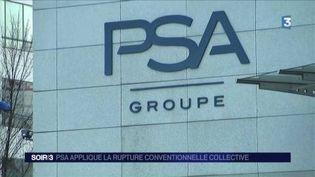 PSA est la première entreprise à appliquer la rupture conventionnelle collective. (FRANCE 3)