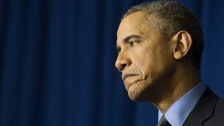 Le président américain Barack Obama, le 1er décembre 2015 à Paris. (JIM WATSON / AFP)