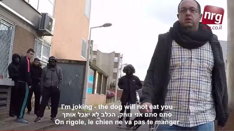 Capture d'écran de la vidéo publiée par le journaliste Zvika Klein, le 15 février 2015. (NRG IL / YOUTUBE)