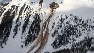 Les lieux de l'avalanche dans le Vallon d'Arbi, le 16 mars 2018, en Suisse. (POLICE CANTONALE VALAISANNE)